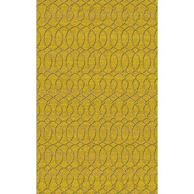 Grange Yellow Area Rug Rug Size: 2 x 3