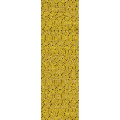 Grange Yellow Area Rug Rug Size: Runner 26 x 8