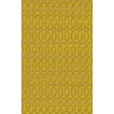 Grange Yellow Area Rug Rug Size: 33 x 53