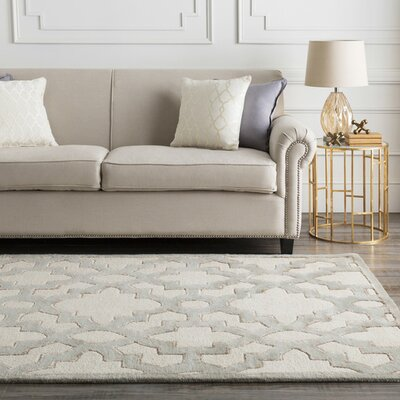Laurita Hand-Tufted Cream Area Rug Rug size: 33 x 53