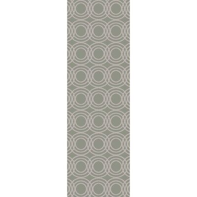 Meader Hand-Tufted Light Gray/Khaki Area Rug Rug size: Runner 26 x 8