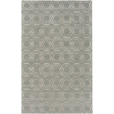 Meader Hand-Tufted Light Gray/Khaki Area Rug Rug size: Rectangle 8 x 10