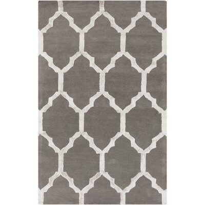 Shannon Hand-Tufted Charcoal/Medium Gray Area Rug Rug size: 33 x 53