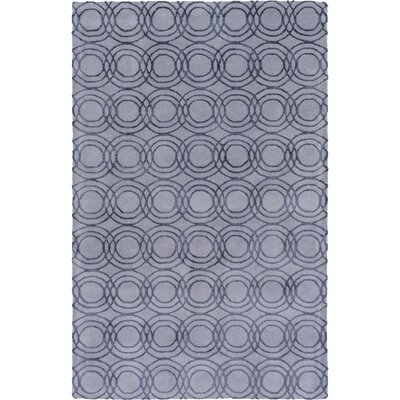 Meader Hand-Tufted Gray Area Rug Rug size: Rectangle 5 x 76