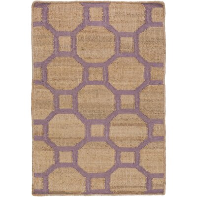 Shaffer Hand-Woven Camel/Mauve Indoor/Outdoor Area Rug