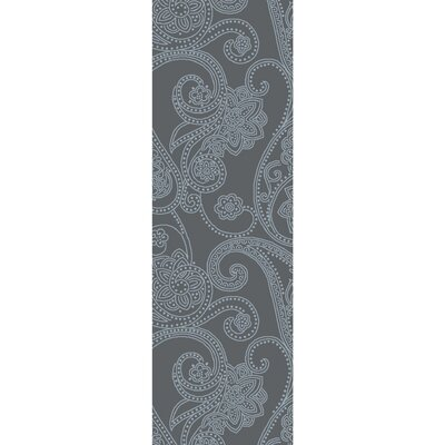 Laurita Hand-Tufted Medium Gray/White Area Rug Rug size: Runner 26 x 8