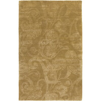 Laurita Hand-Tufted Tan/White Area Rug Rug size: 5 x 8