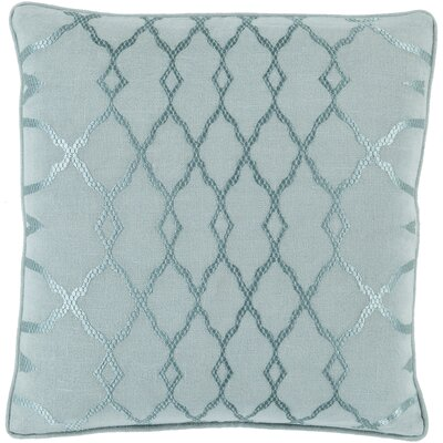 Knipp 100% Linen Throw Pillow Cover Size: 18 H x 18 W x 0.25 D, Color: GreenBlue