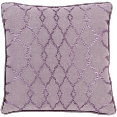Knipp 100% Linen Throw Pillow Cover Size: 18 H x 18 W x 0.25 D, Color: Purple