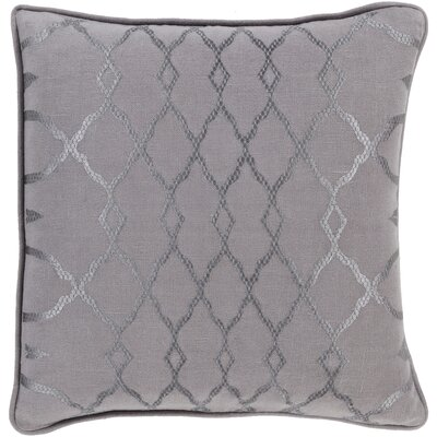 Knipp 100% Linen Throw Pillow Cover Color: GreenBlue, Size: 18 H x 18 W x 0.25 D