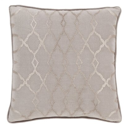 Knipp 100% Linen Throw Pillow Cover Size: 18 H x 18 W x 0.25 D, Color: Neutral