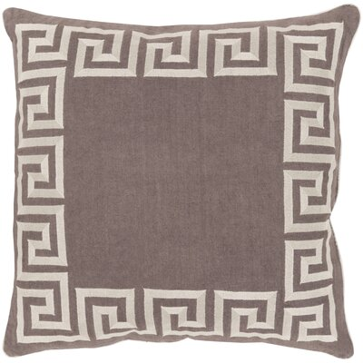 Hirsh Linen Throw Pillow Cover Size: 18 H x 18 W x 0.25 D, Color: OrangeNeutral