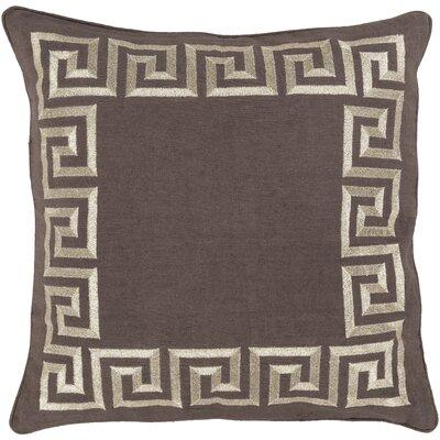 Hirsh Linen Throw Pillow Cover Size: 20 H x 20 W x 1 D, Color: Brown