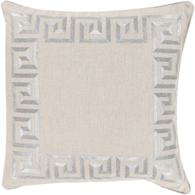 Hirsh Linen Throw Pillow Cover Size: 20 H x 20 W x 1 D, Color: Gray