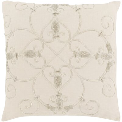 Gaunt 100% Linen Throw Pillow Cover Color: Cream