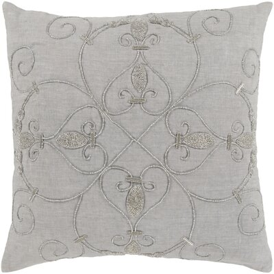 Gaunt 100% Linen Throw Pillow Cover Color: GrayMetallic