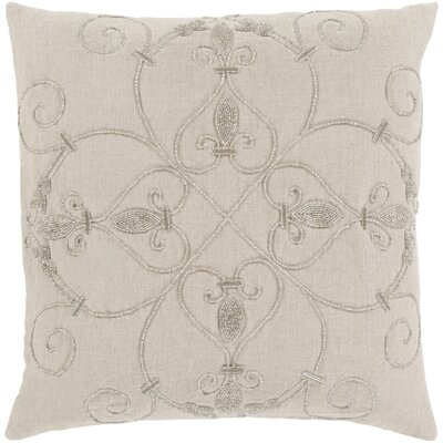 Gaunt 100% Linen Throw Pillow Cover Color: NeutralMetallic