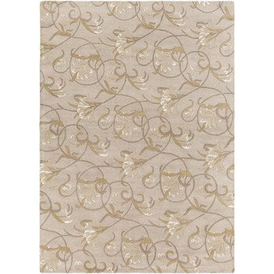 Gwinn Hand-Tufted Neutral/Brown Area Rug Rug Size: 2 x 3