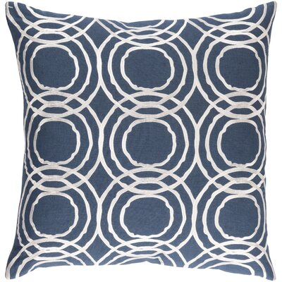 Meader Pillow Cover Size: 18 H x 18 W x 1 D, Color: Blue