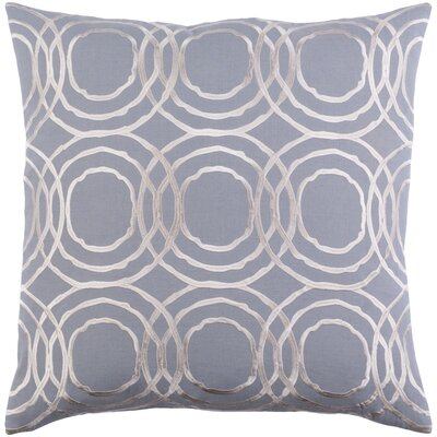 Meader Pillow Cover Size: 22 H x 22 W x 1 D, Color: Gray