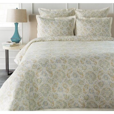 Lenihan Duvet Set Size: Full / Queen, Color: Neutral/Blue/Orange