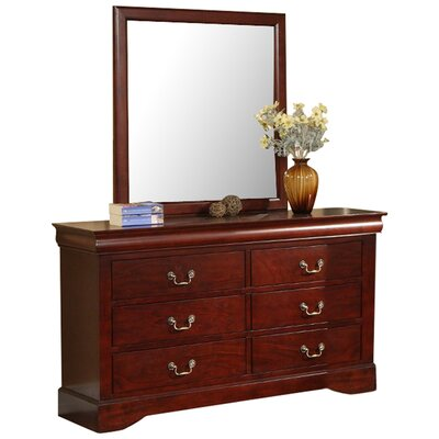 Hopkinsville 6 Drawer Double Dresser with Mirror
