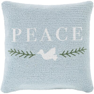 Peace Winter Pillow Cover Fill Type: Polyester