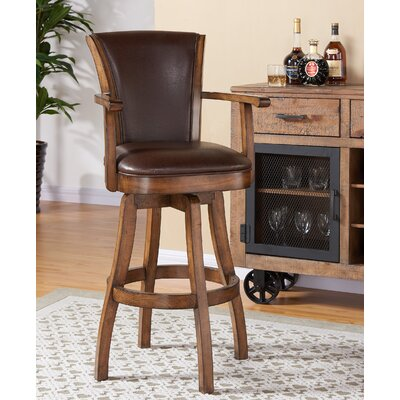 Shockley 26 Swivel Bar Stool with Cushion