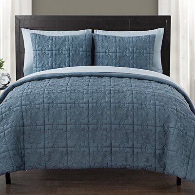 Glenwood Bed in a Bag Set Size: King, Color: Blue