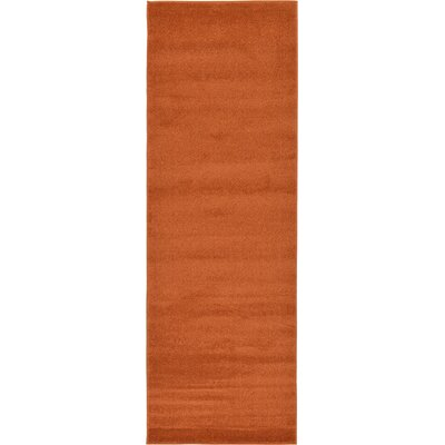 Sellman Rust Red Area Rug Rug Size: Runner 3'3 x 9'10