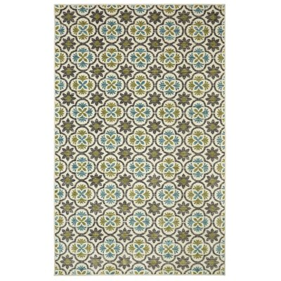 Sisson Aqua Area Rug Rug Size: Rectangle 5 x 8