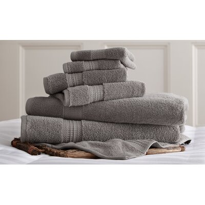 Alcott Hill Bishopsworth 6 Piece Superior Combed Cotton Towel Set