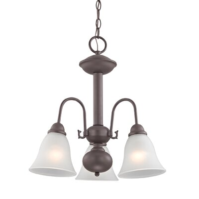Allendale 3-Light Mini Chandelier Finish: Oil Rubbed Bronze
