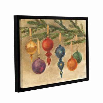 Christmas Ornaments Framed Painting Print on Wrapped Canvas
