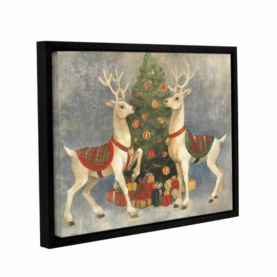 Holiday Reindeer Framed Painting Print on Wrapped Canvas