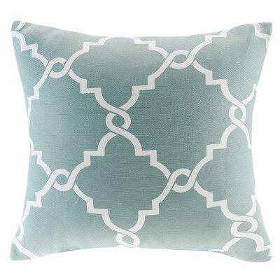 Allard Fretwork Print Throw Pillow Color: Seafoam