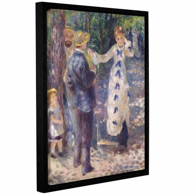 The Swing, 1876 Framed Painting Print on Wrapped Canvas