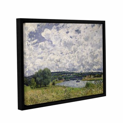 The Seine at Suresnes, 1877  Framed Painting Print on Wrapped Canvas