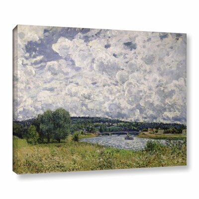 The Seine at Suresnes, 1877 Painting Print on Wrapped Canvas