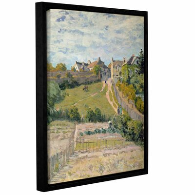 The Climbing Path, 1875 Framed Painting Print on Wrapped Canvas
