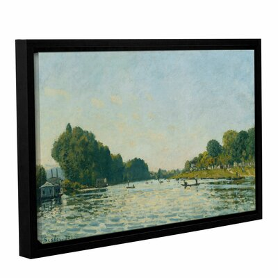 The Seine at Bougival, 1872 Framed Painting Print on Wrapped Canvas Size: 12