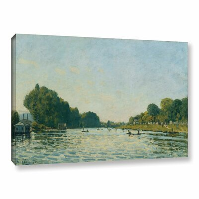 The Seine at Bougival, 1872 Painting Print on Wrapped Canvas Size: 12