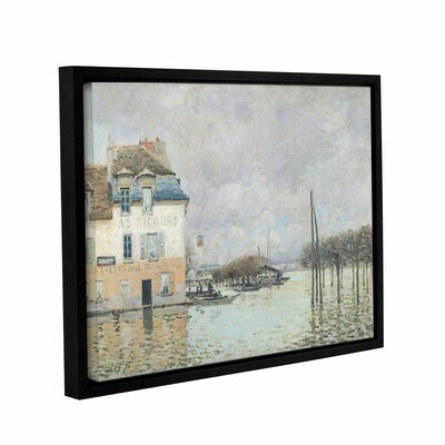 The Flood at Port-Marly, 1876 2 Framed Painting Print on Wrapped Canvas
