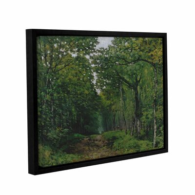 The Avenue of Chestnut Trees at La Celle-Saint-Cloud, 1867 Framed Painting Print on Wrapped Canvas