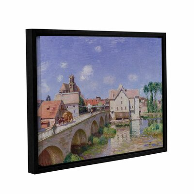 The Bridge at Moret, 1893 Framed Painting Print on Wrapped Canvas