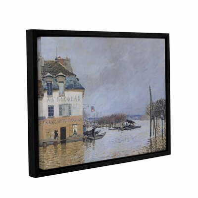The Flood at Port - Marly, 1876 Framed Painting Print on Wrapped Canvas