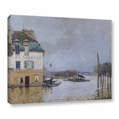 The Flood at Port - Marly, 1876 Painting Print on Wrapped Canvas