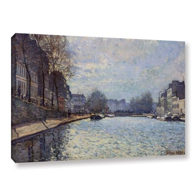 View of The Canal Saint-Martin, Paris, 1870 Painting Print on Wrapped Canvas