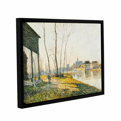 A February Morning in Moret-Sur-Long, 1881 Framed Painting Print on Wrapped Canvas