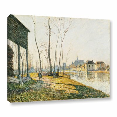A February Morning in Moret-Sur-Long, 1881 Painting Print on Wrapped Canvas